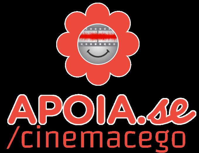 Imagem da logo cinema cego dentro de uma ilustração de flor na cor rosa. ao lado o texto: contribua conosco para levar a Audiodescrição a muito mais pessoas. Doe a partir de 10 reais. Apoia-se/cinemacego.