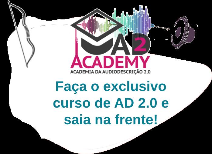 Imagem de uma flecha acertando um alvo. com o texto: AD2 Academy. Faça o exclusivo curso de AD 2.0 e saia na frente.